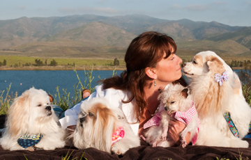 Kelly Preston and Dogs